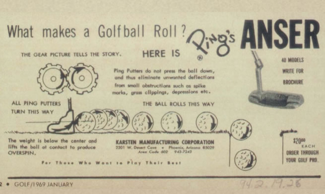 Anser Putter Print Advertisement