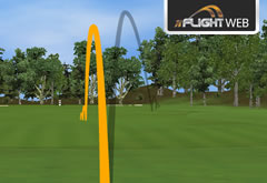 graphic showing ball flight paths