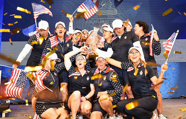 US Solheim Cup Team Victorious [2015]